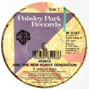 "Prince And The New Power Generation ‎- 7 (7"") (VG-EX/NM)"
